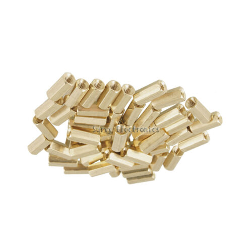 20pcs M3 12 mm Hexagonal net nut Female brass Standoff//Spacer New Good Quality