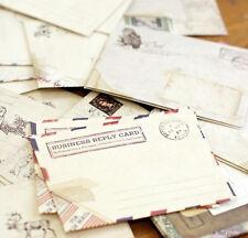 Set of 12 Vintage Mini Envelopes - Retro Envelope Paper Craft Travel Journal