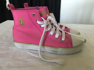 new styles coupon codes fashion Details about POLO RALPH LAUREN WOMENS HIGH TOP CANVAS SHOES SIZE US 5