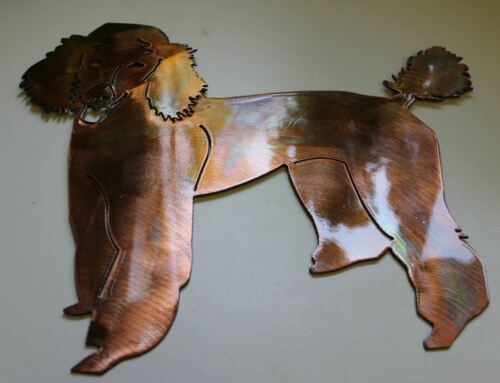 Poodle Metal Wall Art Decor