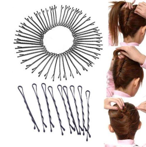 Hot 108PCS Metal Waved Bobby Salon Pins Grips Hairpins Barrette Hair Clips BUCA