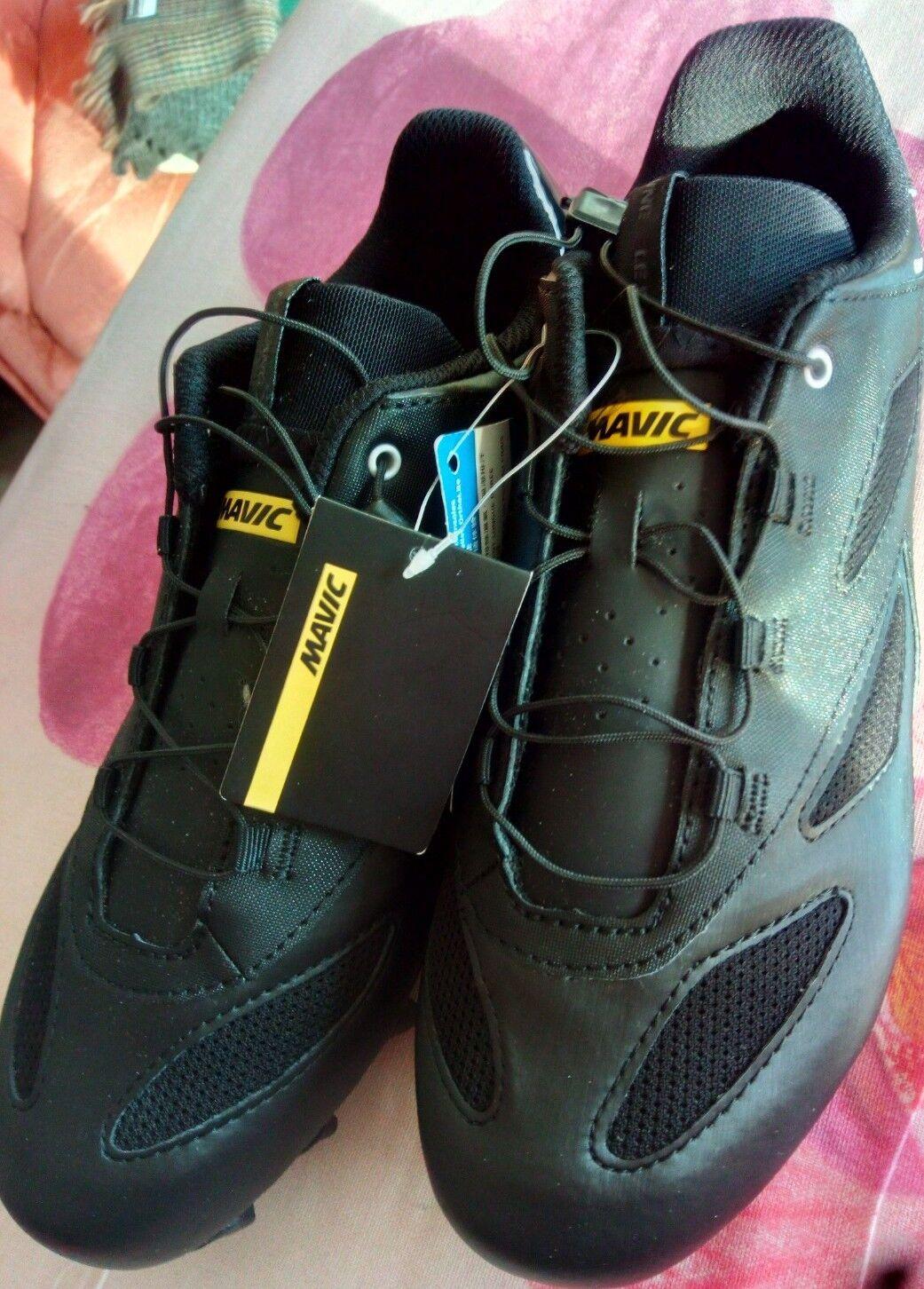 Neue Rennrad-Schuhe-MAVIC-CROSSMAX ( contagrip Ortholite) Gr.-42 Schwarz Farbe.