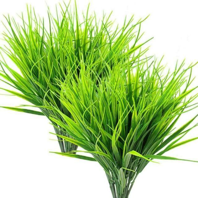 Beebel 6pcs 15 Artificial Plastic Wheat Grass Faux Shrubs