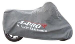 Telo-Copri-Moto-Scooter-Protezione-Anti-Polvere-Copertura-da-Interno-Grigio-L