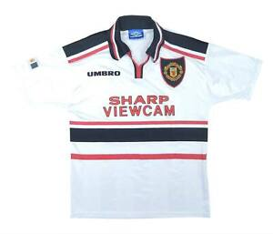 Manchester United 1997-98 Authentic Away Shirt (eccellente) Youth Soccer Jersey