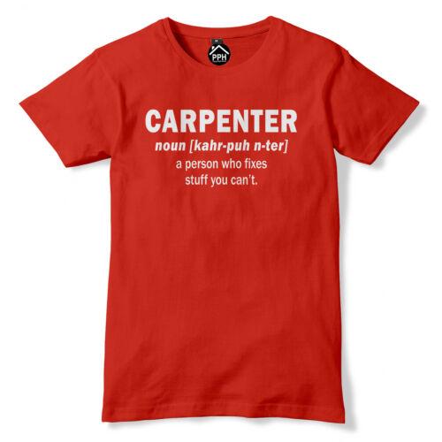 Carpenter noun t-shirt chippy homme tronçonneuse drôle t shirt commerce builder bois PT30