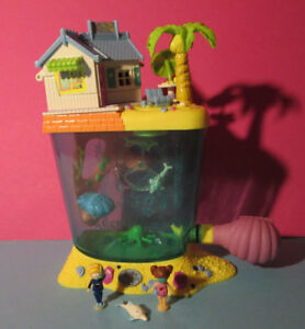 Polly Pocket Mini ♥ Aquarium Dolphin Island 100% Complète 1996