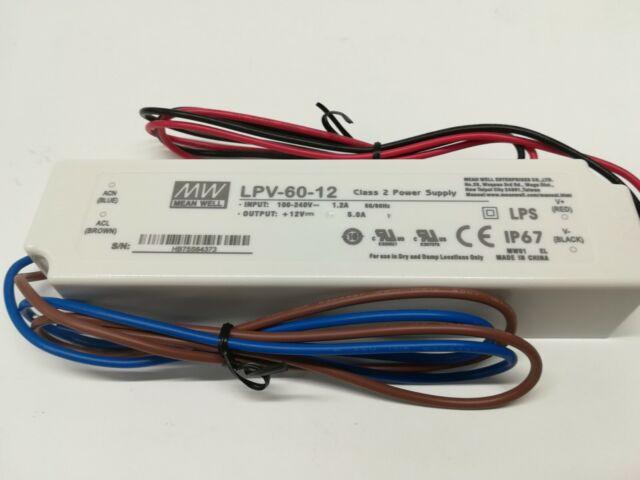 Fuente de alimentación Meanwell IP67 Modelo LPV-60-12