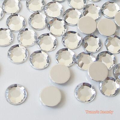 1000pcs Clear 2-10mm Acrylic Flatback Rhinestones Scrapbooking Nail Art Craft