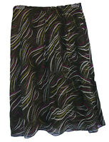 Jones York Multicolor Print Ruffle Silk Skirt Size 2p 2 Petite $99