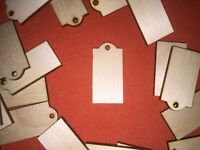10 x SMALL LABEL / TAG n2 round top SHAPE WOODEN BLANKS CRAFT HANGING GIFT TAG