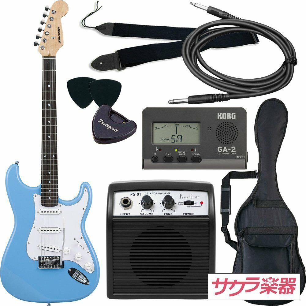 SELDER electric guitar ST-16 UBL Stratocaster type beginner introductor JAPAN