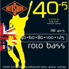 Rotosound Rb40-5 Nickel 5 String Electric Bass Strings