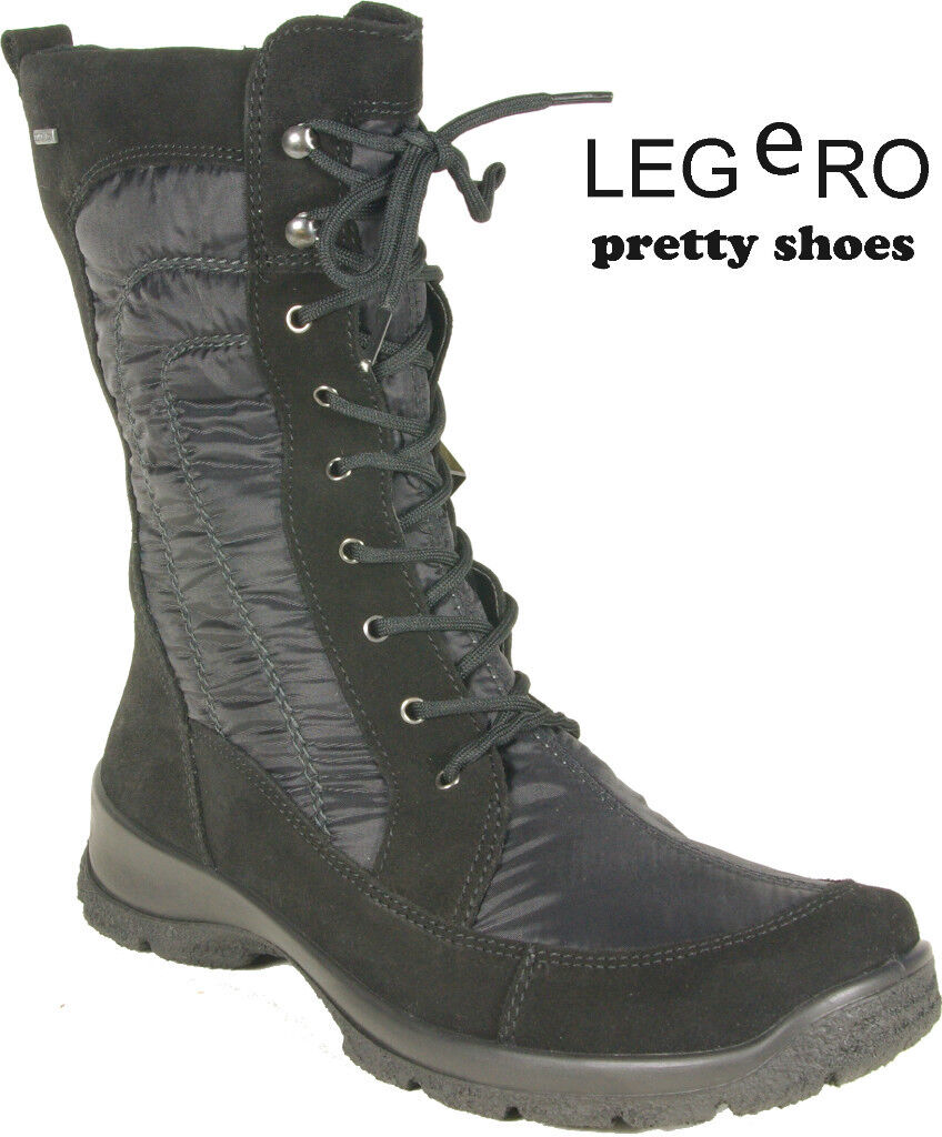 LEGERO Winter Stiefel black Leder Textil GORE TEX Warmfutter NEU