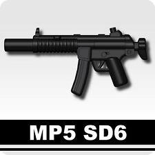 MP5 SD6 (W157) Machine Gun compatible with toy brick minifigures