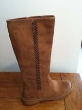 NEW UGG AUSTRALIA SIZE 8 TAN BROWN SUEDE LEATHER KNEE HIGH RIDING BOOTS UGGS