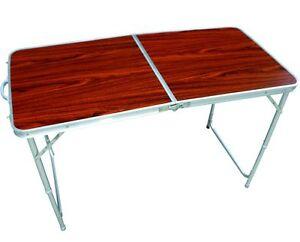 Alluminio campeggio tavolo da giardino tavolo tavolo pieghevole tavolo falttisch tavolo da - Tavolo pieghevole a valigia ...