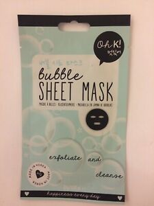 Oh K! Bubble Sheet Mask 'Exfoliate And Cleanse' 23g Brand New