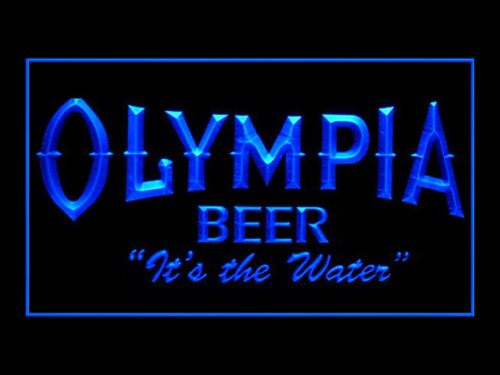 Y357B Olympia Old Logo Beer For Pub Bar Display Light Sign