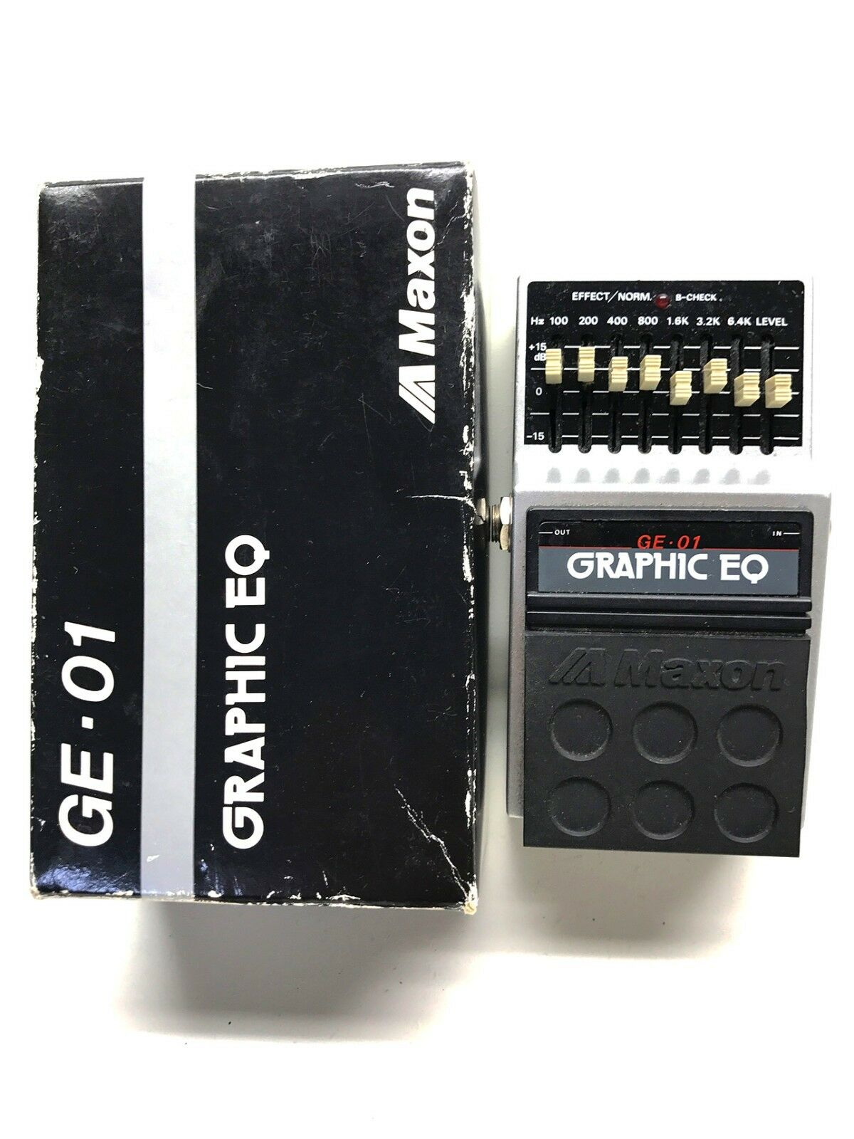 Maxon GE-01, Graphic EQ, Made In Japan, 80'S, Original Boxing, Guitar Effect