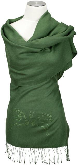 Schal, Swarovski Elemente Hirsche 70% Cashmere 30% Seide silk  scarf stags