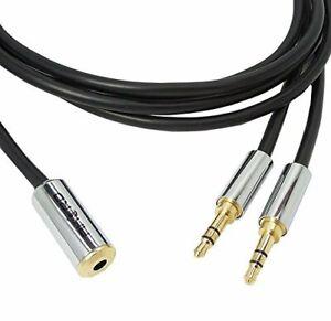 5-Metre-HQ-3-5mm-Socket-to-2-x-Jack-Plugs-Lead-Aux-Extension-Cable-Splitter
