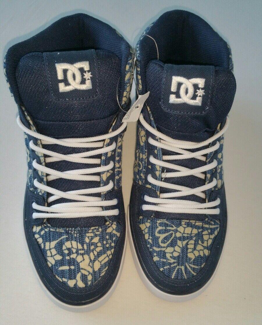 NEU DC SHOES High Top Sneaker Denim Canvas Trend Sneaker für Damen