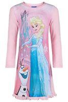 Girls Disney Frozen Elsa & Olaf Nightdress Pink Nightie Age's 5-10 Years NEW
