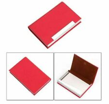 Us Ship Business Card Holder Case Pu Leather Stainless Steel With Magnetic Shut