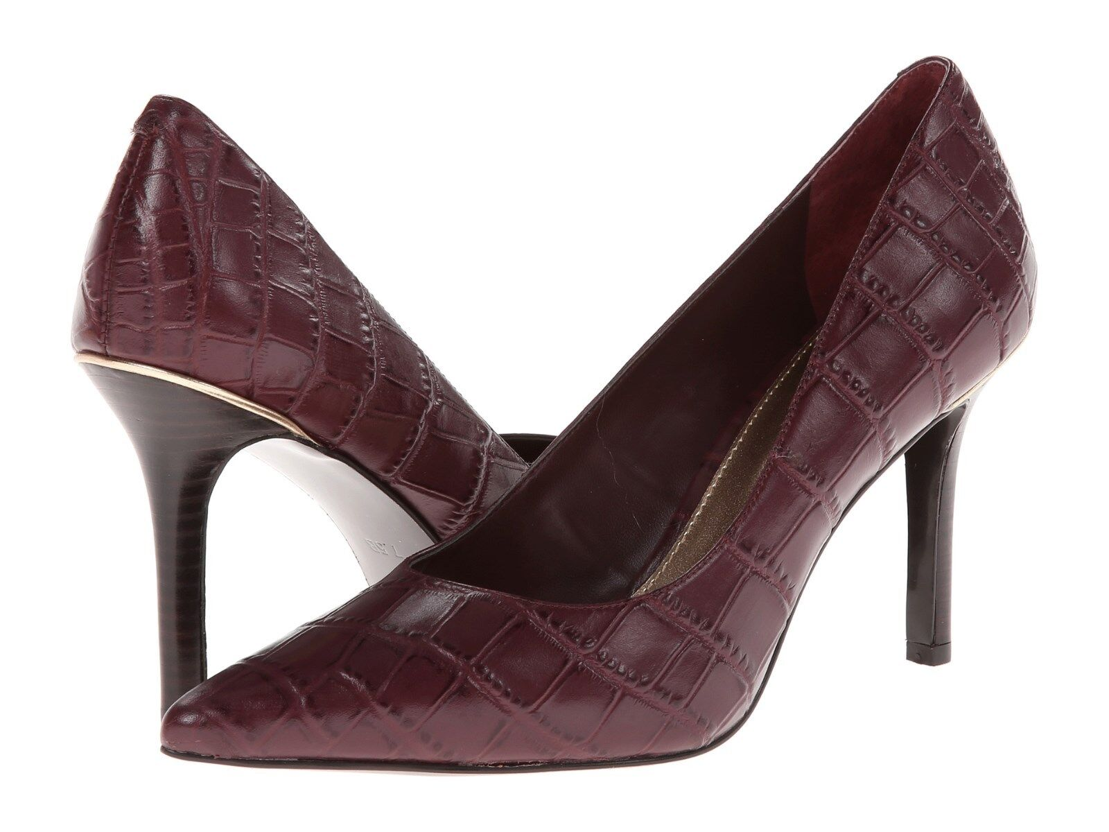 LAUREN RALPH LAUREN SARINA PORT CROC EMBOSSED WOMEN PUMP MULTIZE AS211