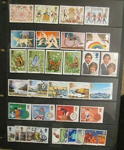 1981-COMPLETE-COMMEMORATIVE-YEAR-SET-8-SETS-FINE-USED