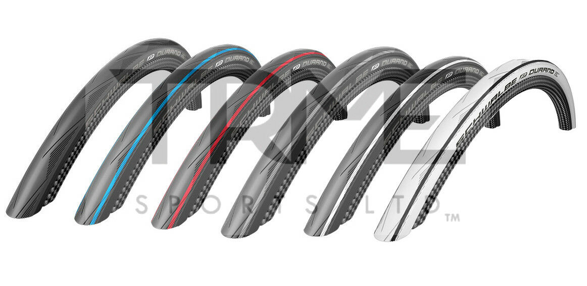 SCHWALBE DURANO 700x23c 25c 28c Road Tyres HS464 23 25 28-622 (Various Colours)
