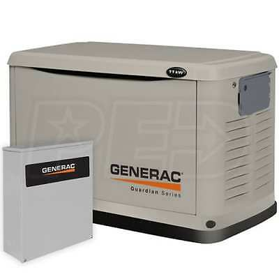 Generac 11 kW Pre-Packaged Air-Cooled Standby Generator & 200 Amp SE Switch NEW