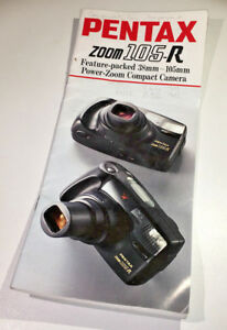 DL-size-sales-booklet-for-Pentax-Zoom-105-R-35mm-compact-from-early-1990s