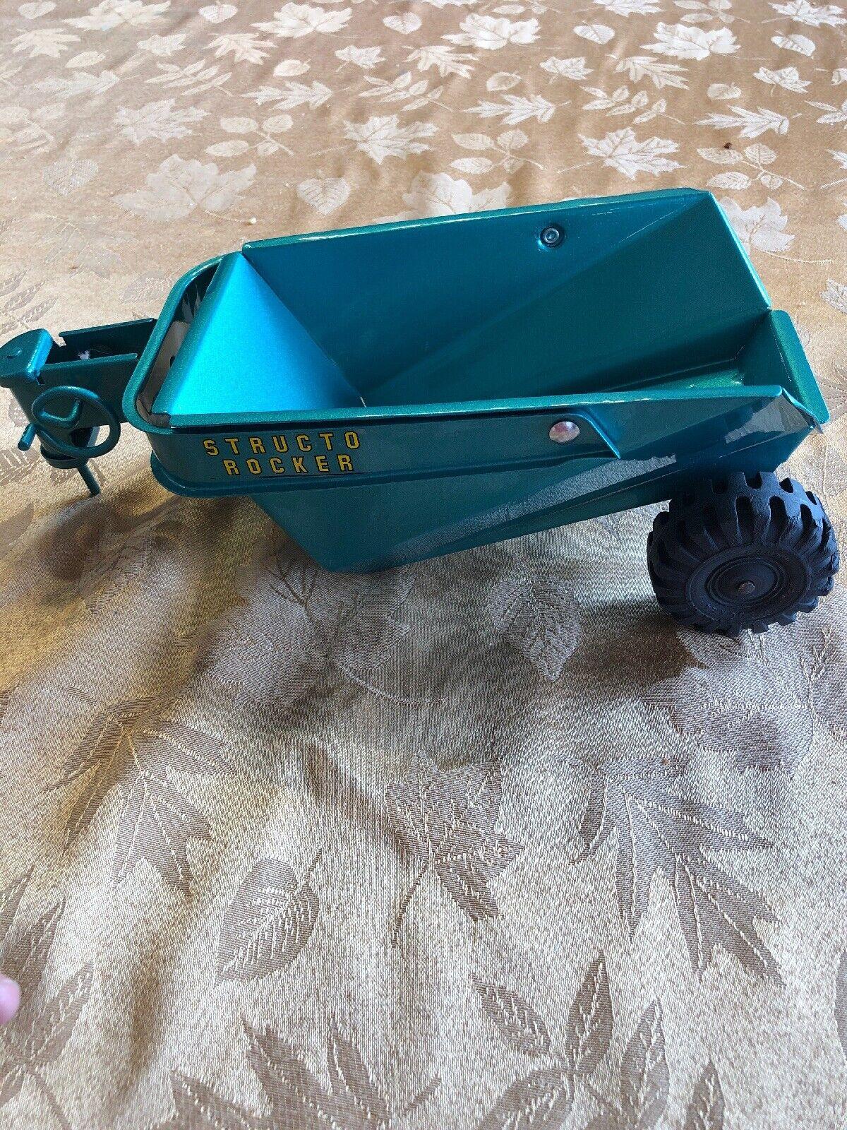Vintage Buddy L Structo remolque basculante eje de balancín Acero Prensado verde Pro Restaurado