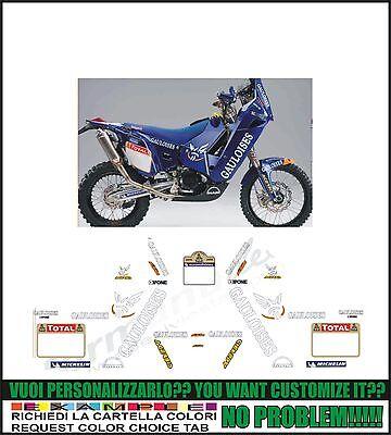 Verde Set Adesivi Dakar Tagliati Singolarmente Stickers Compatibili Kit Decalcomanie Personalizza Colore