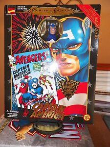 Toy-Biz-Marvel-Famous-Cover-CAPTAIN-AMERICA-8-034-Retro-Figure-New-in-Box-NIB