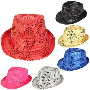 73ea54a839a Men Womens Glitter Hat Dance Show Stage Party Jazz Cap Costume ...