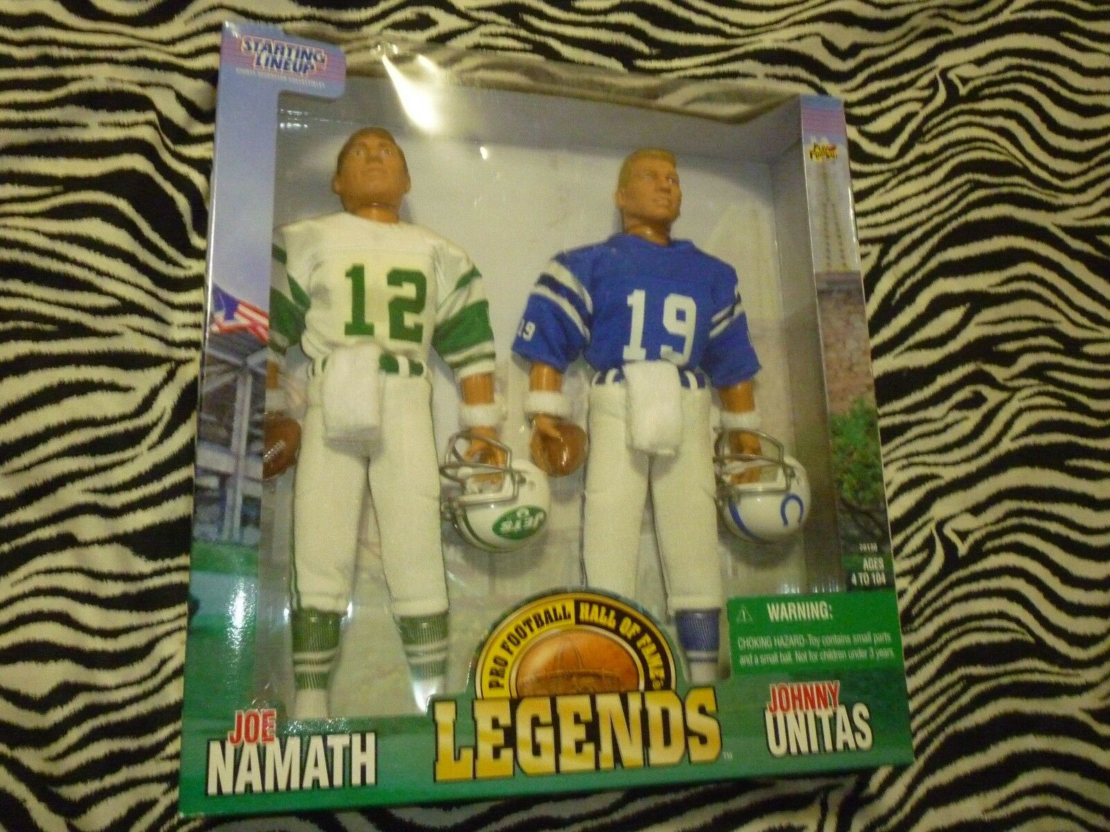 Starting Lineup   Joe Namath - Johnny Unitas Vintage Figures - NEW