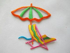 4221-Sun-Umbrella-Beach-Chair-Embroidery-Iron-On-Applique-Patch