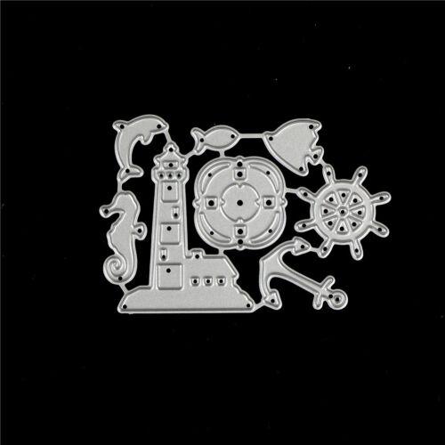 Ocean Rudder Design Metal Cutting Die For DIY Scrapbooking Album Paper Cards JB