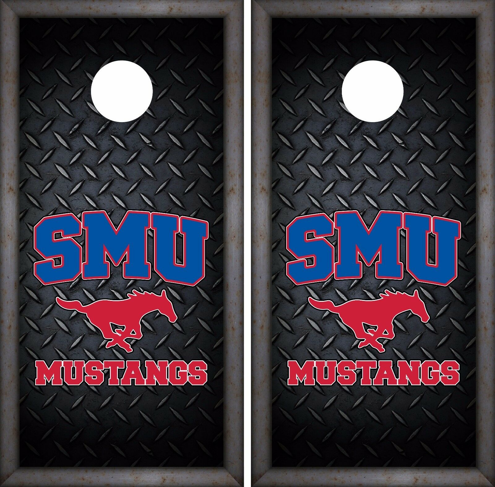 SMU Mustangs Cornhole Skin Wrap NCAA College Luxury Decor Vinyl Decal DR370