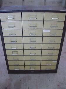 ... Industrial Vintage COLE STEEL Metal File Parts Bin