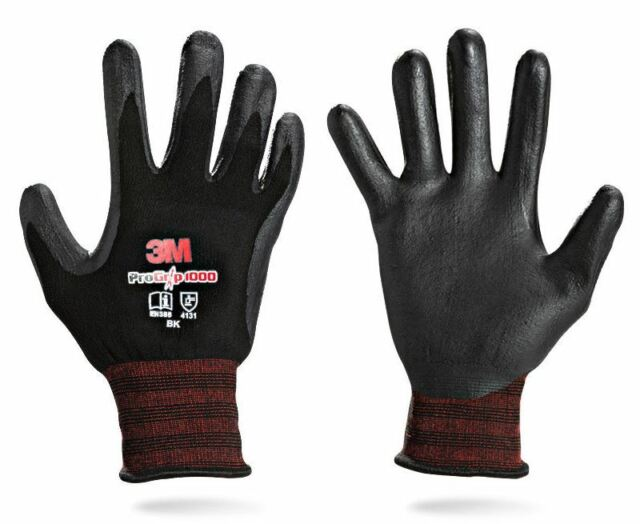 10 Pairs 3M Pro Grip 3000 Work Gloves Protective Builders Mechanic Construction