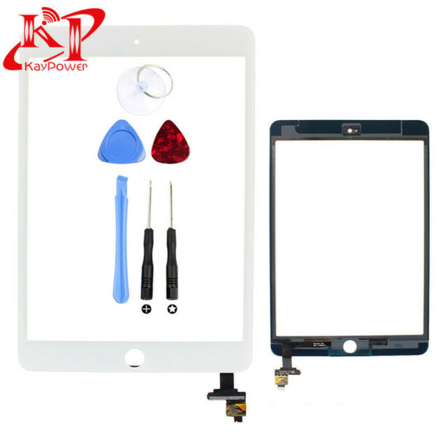 New Replacement Digitizer Glass Touch For iPad Mini 3 A1599 A1600 White + Home