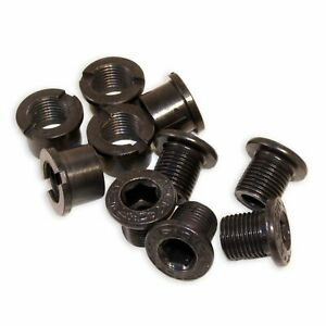 Race Face Steel Black Chainring Bolt /& Nut Set A10002 10 PIECES