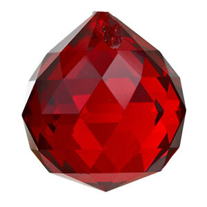 Vintage red crystal chandelier prisms parts droplets glass 30mm ball image is loading vintage red crystal chandelier prisms parts droplets glass aloadofball Choice Image