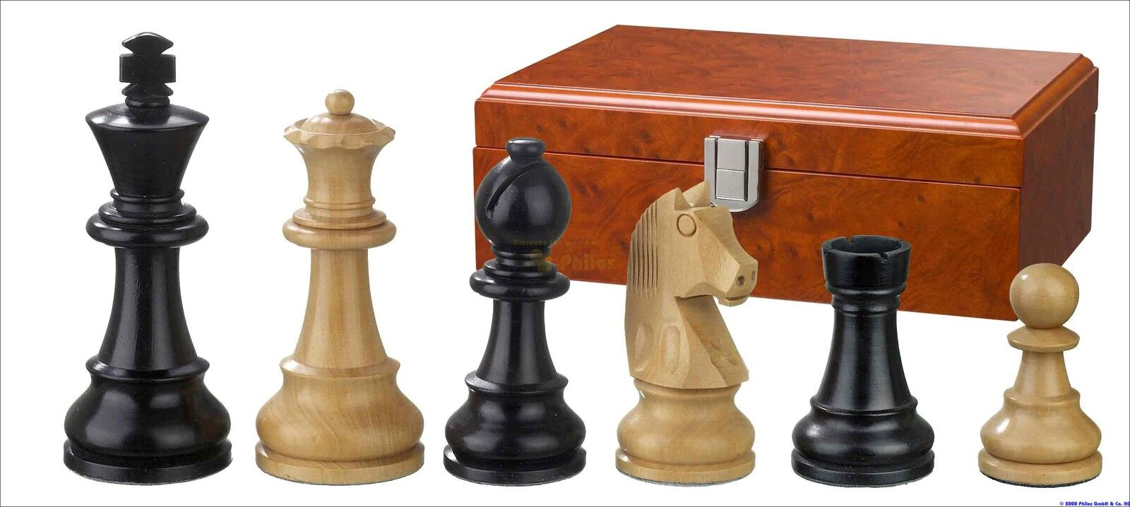 Schachfiguren Schachfiguren Schachfiguren KH 95 mm Staunton  Mod Ludwig XIV Philos 2125 589aea