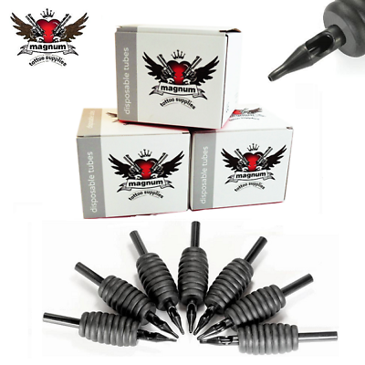 19mm 1.9cm Estéril Desechable Grip De Silicona Punta Tatuaje Tubos Tattoo Needles, Grips & Tips Redondo Smoothing Circulation And Stopping Pains