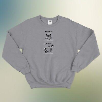 GüNstiger Verkauf Inhale Exhale Pug Art Yoga Sweater Cute Funny Gift Unisex Jumper Sweatshirt Top GüNstigster Preis Von Unserer Website